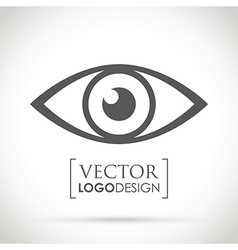 abstract eye icon vector image vector image