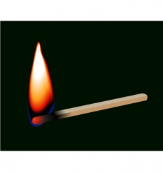 burning match stick vector image vector image