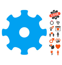 gear icon with lovely bonus vector image vector image