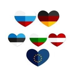 heart Russia Austria Europe Germany icon vector image