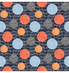 Marine pattern with polka dots vector image vector image