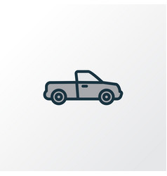 pickup colorful outline symbol premium quality vector image