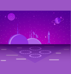space base on the planet colonization futurism vector image