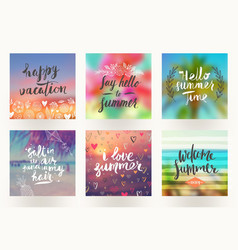 summer holidays and vacation greeting cards vector image