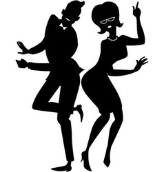 The twist couple silhouette vector image vector image