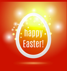 beautiful easter egg on red background vector image