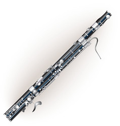 Classical bassoon vector image vector image