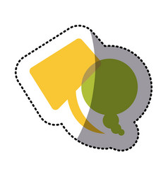 color squere and round chats bubbles icon vector image