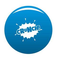 comic boom crunch icon blue vector image vector image