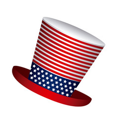 hat independence day icon vector image