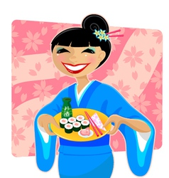 japanese meal vector image