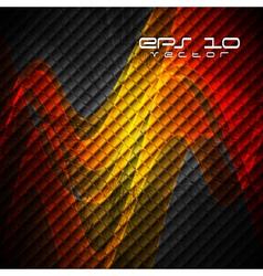 Orange waves on the dark backdrop vector image vector image