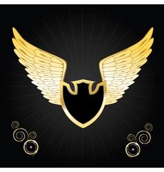 vintage golden wings vector image