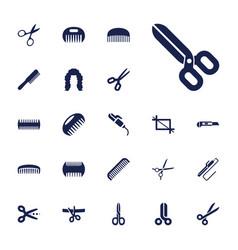 22 scissors icons vector