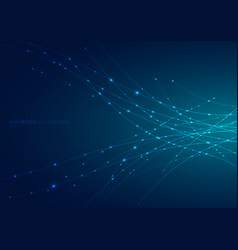 abstract blue laser line curved with sparkle vector image