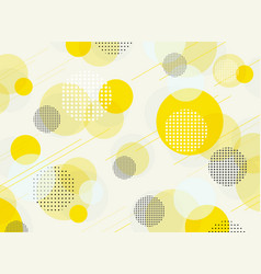 abstract of simple round bubble yellow geometric vector image