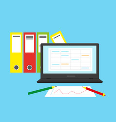 Accounting financial analysis or audit concept vector
