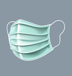 Antibacterial mask on a gray background in 3d vector