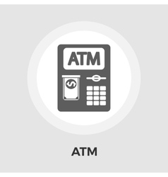 ATM flat icon vector image