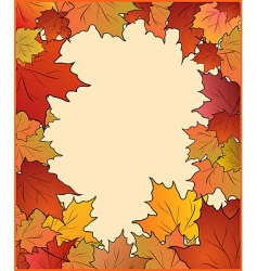 autumn card with maple vector image