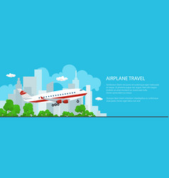 banner of airplane flies to the east vector image