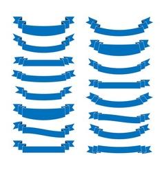 blue ribbon banners set beautiful blank vector image