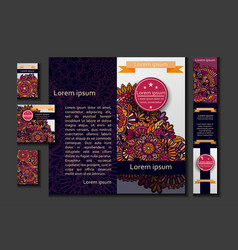 Brochure flyer or booklet travel design template vector
