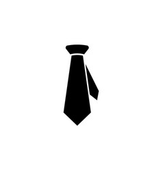 business dress tie icon signs and symbols can be vector image