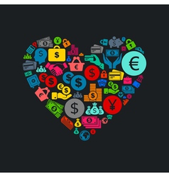 Business heart3 vector