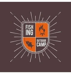 Camping trip design vector