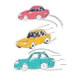 Cars icons set transport transportation vector