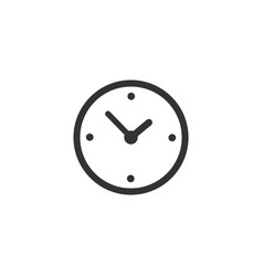 clock time icon isolated on white background vector image