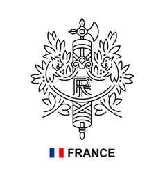 coat arms france vector image