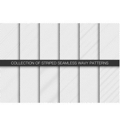 collection simple seamless curve outline vector image