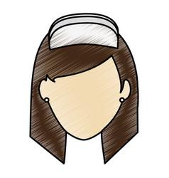 color pencil image faceless female nurse front vector image
