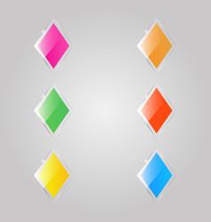 Colored glass rhombuses banners vector