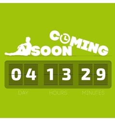 Comming soon with countdown timer vector
