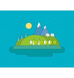 Concept of green energy vector image