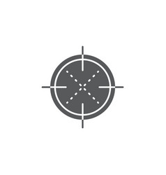 Crosshair icon symbol isolated on white background vector