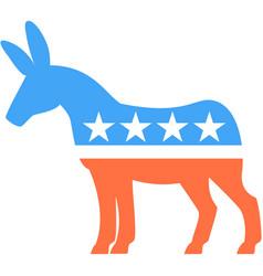 Donkey democrat election usa party icon vector