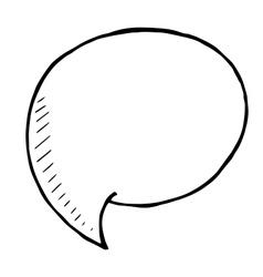 doodle Speech Bubble hand drawn vector image