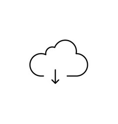 download data cloud outline icon signs and vector image