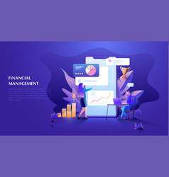 financial management concept for web banner vector image