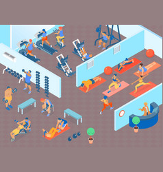 fitness horizontal vector image