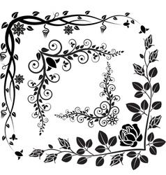 Floral corner vector