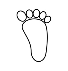 Foot print isolated icon design vector