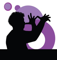 funny man with hand vector image