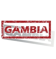 Gambia outlined stamp vector
