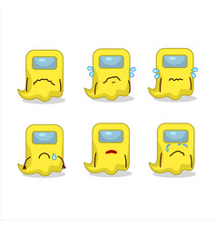 Ghost among us yellow cartoon character with sad vector