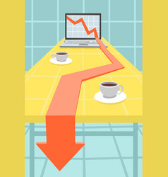 Gradual market decline vector